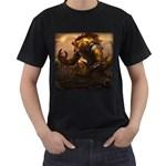 riusk - Men s T-Shirt (Black) (Two Sided)