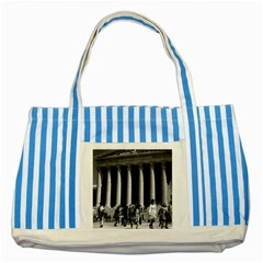 Vintage Usa Washington Memorial Lincoln 1970 Blue Striped Tote Bag by Vintagephotos