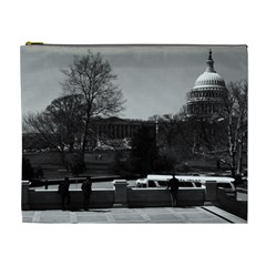 Vintage Usa Washington The Capitol 1970 Extra Large Makeup Purse by Vintagephotos