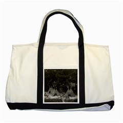 Vintage Usa California Disneyland Indian Camp 1970 Two Toned Tote Bag by Vintagephotos