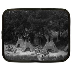 Vintage Usa California Disneyland Indian Camp 1970 12  Netbook Case by Vintagephotos