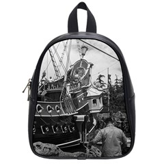 Vintage Usa California Disneyland Sailing Boat 1970 Small School Backpack by Vintagephotos