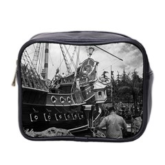 Vintage Usa California Disneyland Sailing Boat 1970 Twin Sided Cosmetic Case by Vintagephotos