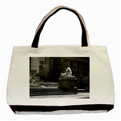 Vintage Usa New York City Public Library 1970 Twin Sided Black Tote Bag by Vintagephotos