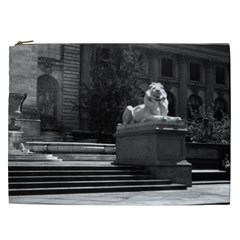Vintage Usa New York City Public Library 1970 Cosmetic Bag (xxl) by Vintagephotos