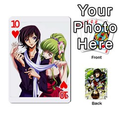 Code Geass By David    Playing Cards 54 Designs   6xpb4uvp058l   Www Artscow Com Front - Heart10