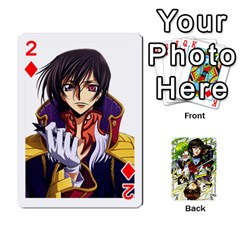 Code Geass By David    Playing Cards 54 Designs   6xpb4uvp058l   Www Artscow Com Front - Diamond2