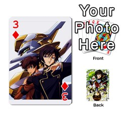 Code Geass By David    Playing Cards 54 Designs   6xpb4uvp058l   Www Artscow Com Front - Diamond3