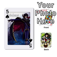 Code Geass By David    Playing Cards 54 Designs   6xpb4uvp058l   Www Artscow Com Front - Spade5