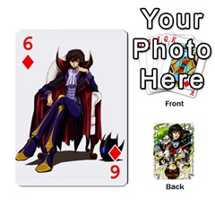 Code Geass By David    Playing Cards 54 Designs   6xpb4uvp058l   Www Artscow Com Front - Diamond6