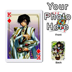 King Code Geass By David    Playing Cards 54 Designs   6xpb4uvp058l   Www Artscow Com Front - DiamondK