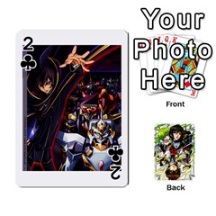 Code Geass By David    Playing Cards 54 Designs   6xpb4uvp058l   Www Artscow Com Front - Club2