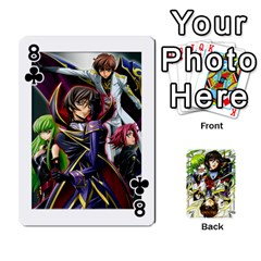 Code Geass By David    Playing Cards 54 Designs   6xpb4uvp058l   Www Artscow Com Front - Club8