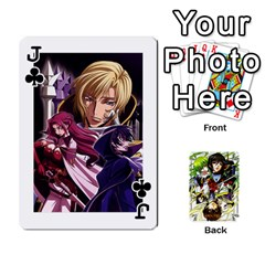 Jack Code Geass By David    Playing Cards 54 Designs   6xpb4uvp058l   Www Artscow Com Front - ClubJ