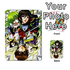 Code Geass By David    Playing Cards 54 Designs   6xpb4uvp058l   Www Artscow Com Back