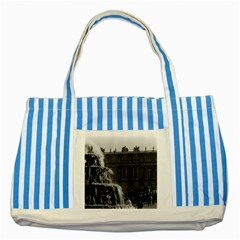 Vintage France Palace Of Versailles Pyramid Fountain Blue Striped Tote Bag by Vintagephotos