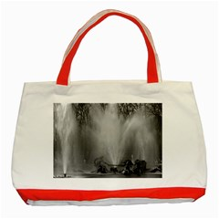 Vintage France Palace Of Versailles Apollo Fountain Red Tote Bag by Vintagephotos