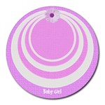 My Baby girl mousepad - Collage Round Mousepad