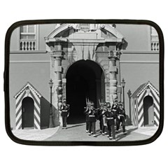 Vintage Principality Of Monaco Palace Gate And Guard 15  Netbook Case by Vintagephotos