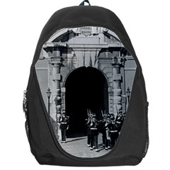 Vintage Principality Of Monaco Palace Gate And Guard Backpack Bag by Vintagephotos