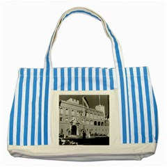 Vintage Principality Of Monaco & Princely Palace 1970 Blue Striped Tote Bag by Vintagephotos