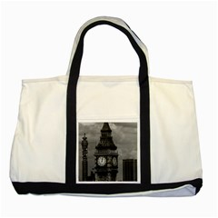 Vintage Uk England London The Post Office Tower Big Ben Two Toned Tote Bag by Vintagephotos