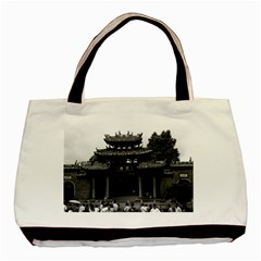 Vintage China Canton Taoist Ancestral Temple 1970 Black Tote Bag by Vintagephotos