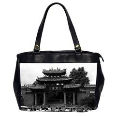 Vintage China Canton Taoist Ancestral Temple 1970 Twin Sided Oversized Handbag by Vintagephotos
