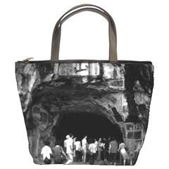 Vintage China Guilin Folded Brocade Hill 1970 Bucket Handbag by Vintagephotos