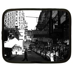 Vintage China Hong Kong Street City Cars 1970 12  Netbook Case by Vintagephotos