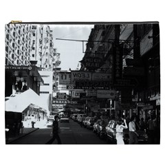 Vintage China Hong Kong Street City Cars 1970 Cosmetic Bag (xxxl) by Vintagephotos