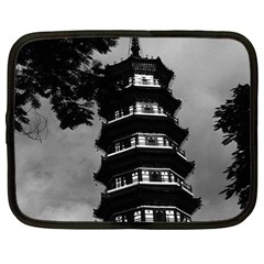 Vintage China Canton The Flowery Pagoda 1970 12  Netbook Case by Vintagephotos