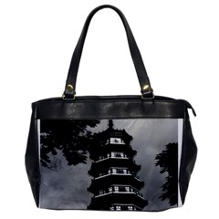 Vintage China Canton The Flowery Pagoda 1970 Single Sided Oversized Handbag by Vintagephotos