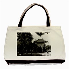 Vintage China Canton Martyrs Parc 1970 Black Tote Bag