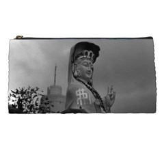Vintage China Hong Kong Repulse Bay Kwun Yam Statue Pencil Case by Vintagephotos