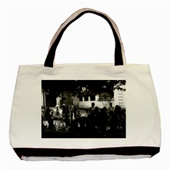 Vintage China Yangshuo Market 1970 Twin Sided Black Tote Bag by Vintagephotos