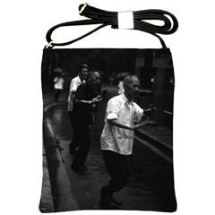 Vintage China Shanghai Morning Gymnastic 1970 Cross Shoulder Sling Bag by Vintagephotos