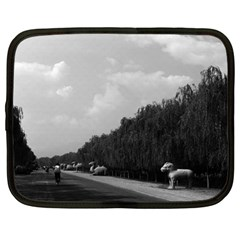 Vintage China Pekin Beautiful Pathway Ming Tombs 1970 15  Netbook Case by Vintagephotos