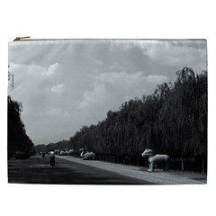 Vintage China Pekin Beautiful Pathway Ming Tombs 1970 Cosmetic Bag (xxl) by Vintagephotos