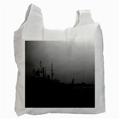 Vintage China Shanghai Port 1970 Twin Sided Reusable Shopping Bag by Vintagephotos