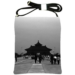 Vintage China Pekin Forbidden City Gate 1970 Cross Shoulder Sling Bag by Vintagephotos