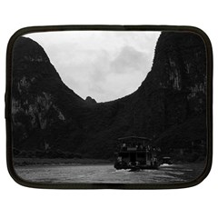 Vintage China Guilin River Boat 1970 13  Netbook Case by Vintagephotos