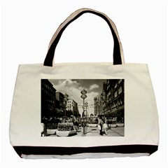 Vintage Germany Munich Towngate Karistor 1970 Black Tote Bag by Vintagephotos