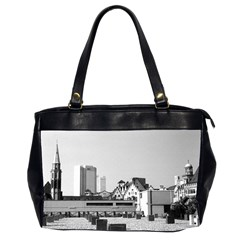 Vintage Germany Frankfurt Old Saint Nicholas Church Twin Sided Oversized Handbag by Vintagephotos