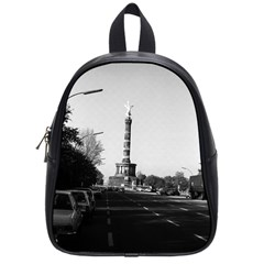 Vintage Germany Berlin 17th June Street Victory Statue Small School Backpack by Vintagephotos