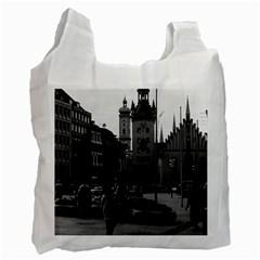 Vintage Germany Munich Church Marienplatz 1970 Single Sided Reusable Shopping Bag by Vintagephotos