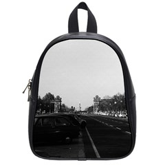 Vintage Germany Berlin The 17th June Street 1970 Small School Backpack by Vintagephotos