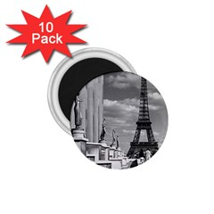 Vintage France Paris Eiffel Tour Chaillot Palace 1970 10 Pack Small Magnet (round) by Vintagephotos