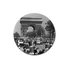 Vintage France Paris Triumphal arch 1970 Large Sticker Magnet (Round) by Vintagephotos