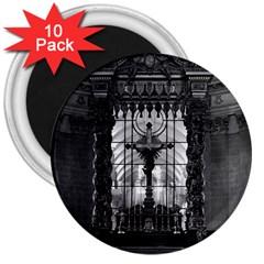 Vintage France Paris Royal Chapel Altar St James Palace 10 Pack Large Magnet (round) by Vintagephotos